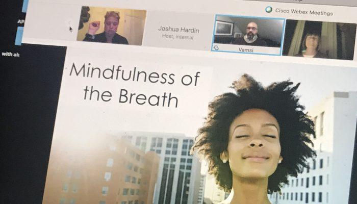 Screen shot of Mind Body Zoom Presentation